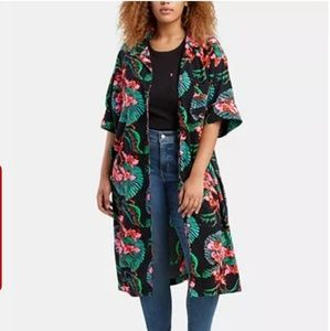 Levi's floral print shirt kimono 3x NWT